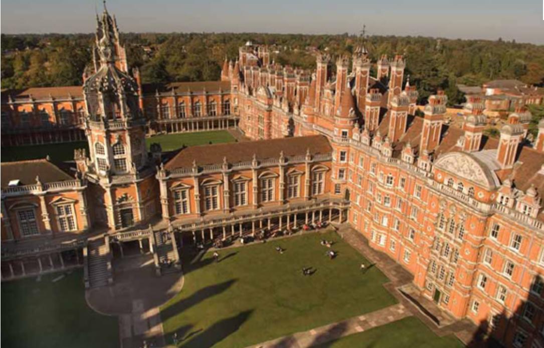 校园风景-英国伦敦大学皇家霍洛威学院-国外学校大全